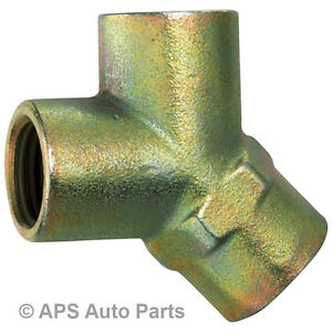 "Air Line Tools Coupling Compressor Hose Connector 3 Way Y Female Thread 1/4"" New"