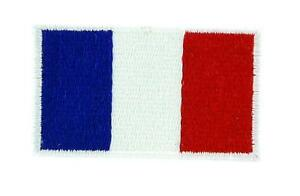 Lote-de-5-10-25-50-Parche-Bordado-Bandera-Francia-Francesa-Termoadhesivo-2x3