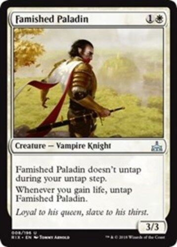 English Rivals of Ixalan MTG Magic 4x Famished Paladin NM-Mint