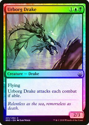 Urborg Drake FOIL Invasion NM Blue Black Uncommon MAGIC MTG CARD ABUGames