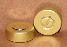 20mm Aluminum Center Tear Serum Vial Seals Gold Qty 100