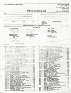 CITY-LIGHTS-BOOKS-1992-DISTRIBUTOR-LIST-BOOKS-IN-PRINT-ORDER-FORM-RE-SEARCH
