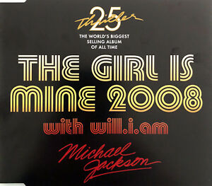 Michael-Jackson-With-Will-I-Am-Maxi-CD-The-Girl-Is-Mine-2008-Australia-M-M