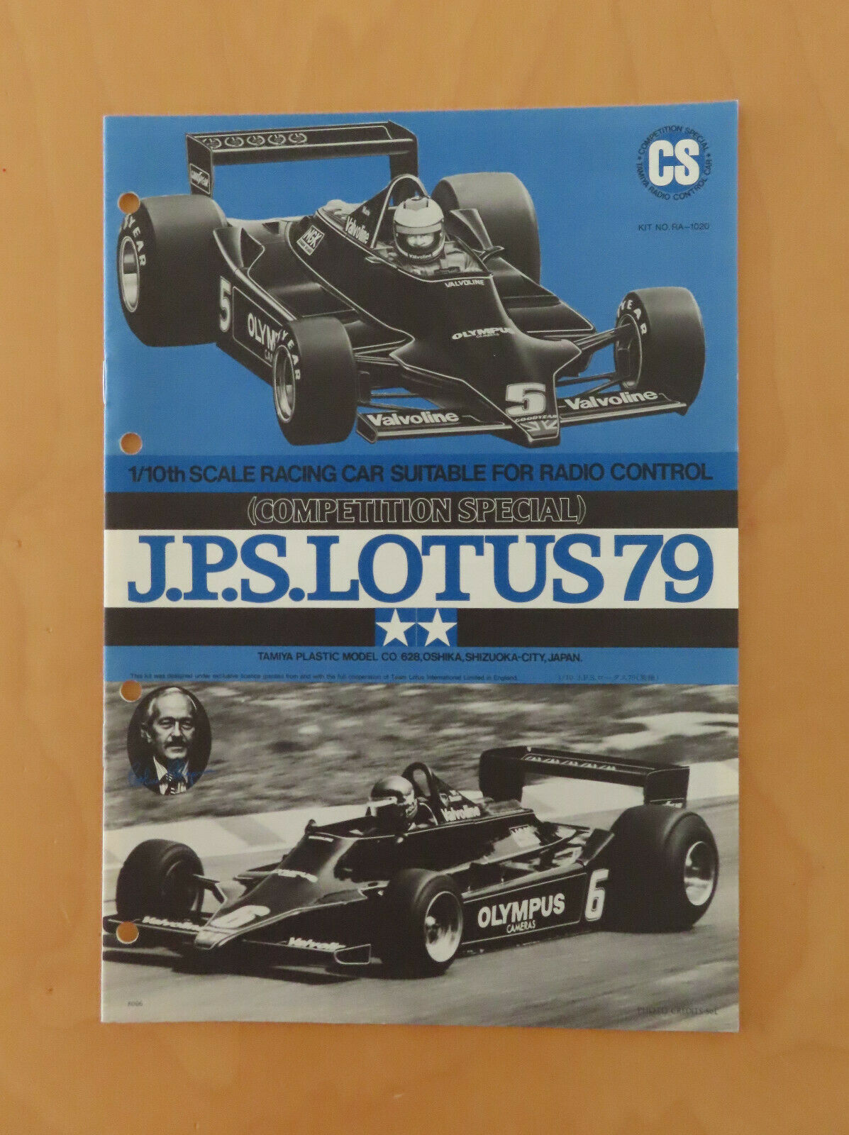 RC TAMIYA MANUALE JPS Lotus 79 CS 58020, RA1020 NUOVA 1980