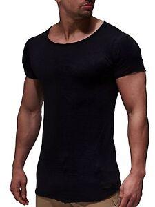 4a97c6d58bace5 Das Bild wird geladen LEIF-NELSON-Herren-oversize-T-Shirt-Rundhals-Basic-