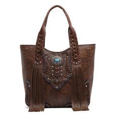 item 1 Western Style Concealed Purse Fringe Totes Handbag Women Shoulder  Bag Wallet Set -Western Style Concealed Purse Fringe Totes Handbag Women  Shoulder ... 87a911e449174