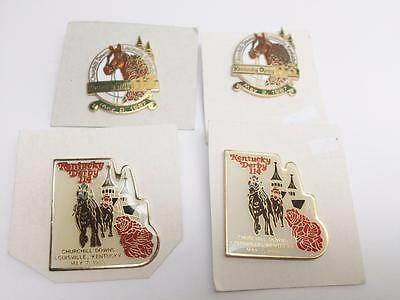 Kentucky Derby Churchill Downs Lot 4 Pin NIP 1987 1988 Horse Race 113 114 Enamel