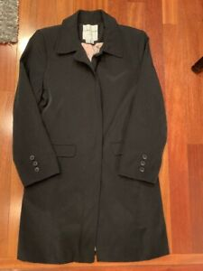 On Clearance limited quantity wide selection of colours and designs Details about Larry Levine Womens Size Medium Sport Black Trench Coat Jacket
