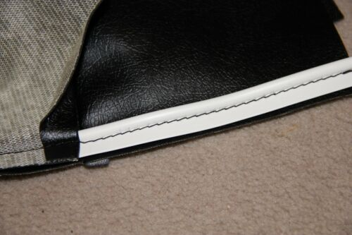 CLASSIC FIAT 500 SEAT TRIM KIT UPHOLSTERY FRONT AND REAR SEAT COVERS BLACK WHITE