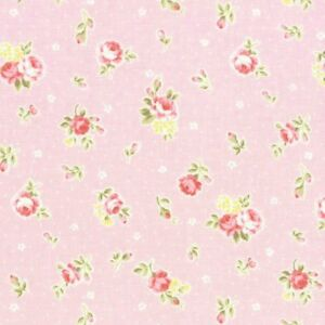 Cottage-Shabby-Chic-Lecien-Princess-Rose-Small-Roses-Fabric-31267L-20-Pink-BTY