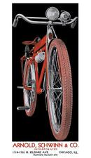 antique bicycle 1933 Schwinn B10E bike POSTER 10x18 SIGN