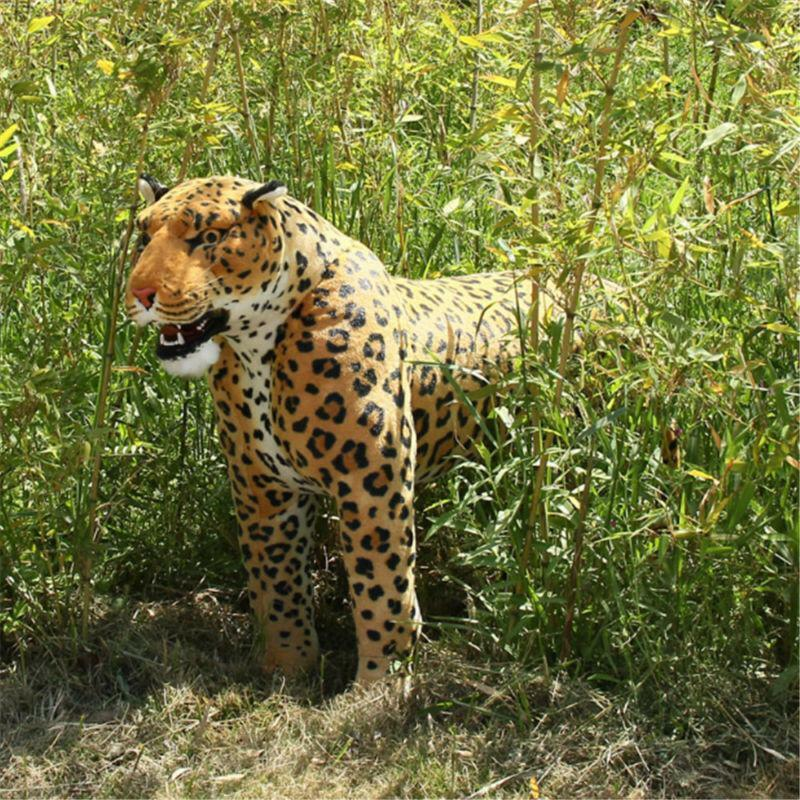 Simulation Leopard Plush Toys Bed Panther Doll Stuffed Animal Pillow Gift  110cm