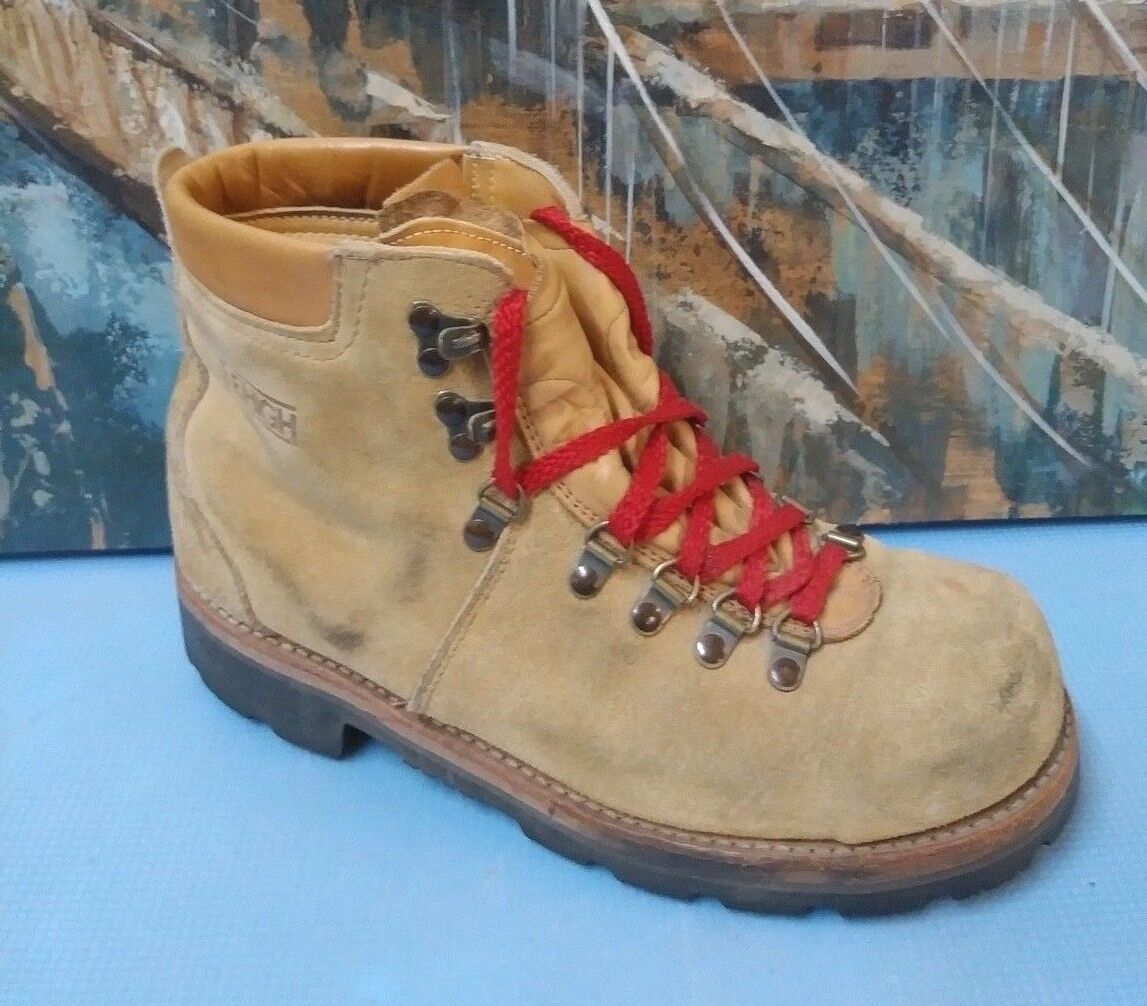 Lehigh 100 Mens Work Boots 9 D Suede Leather Hiking Boots Style 1108