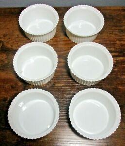 Light Brown Color Ribbed Collectible Glass Custard Bowls 4 oz USA 2 Vintage Arcopol