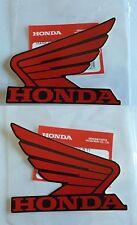 Honda Fuel Tank Wing Decal Wings Sticker x 2 RED/BLACK ***GENUINE HONDA***