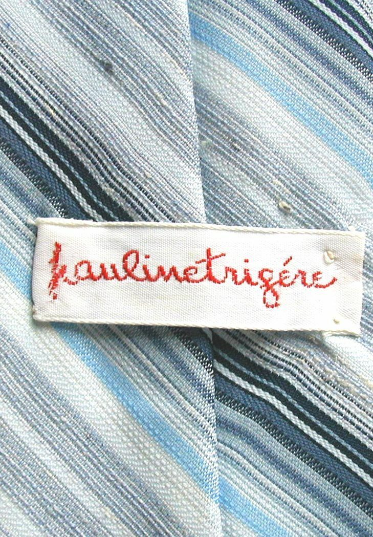 Men's 1980's Vintage Neck Tie PAULINE TRIGERE Lig… - image 2