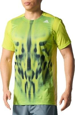 Adidas Adizero Mens Short Sleeve Badminton Top - Green
