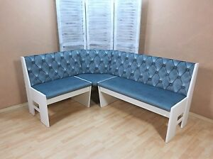 truheneckbank eckbank truhenbank sitzbank truhe bank farbe wei eisblau. Black Bedroom Furniture Sets. Home Design Ideas