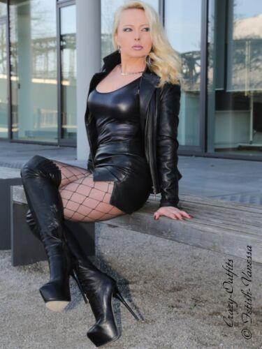 Lederrock Leder Rock Mini Schwarz Hüftrock Maßanfertigung
