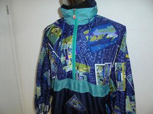oldschool 80er Schlupfjacke Nylon Jeantex crazy pattern vintage Regenjacke M/L