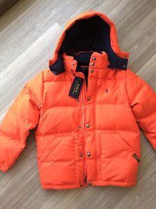 super günstig im vergleich zu billig werden hoch gelobt Details zu Polo Ralph Lauren Daunenjacke NEU Junge Gr. S (8) 140 orange