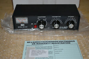MFJ-921-144-220-Mhz-Dual-Band-VHF-Antenna-Tuner-Meter-MINT-IN-BOX