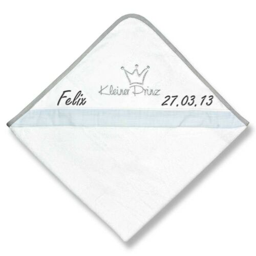 Be Be´s Collection Kapuzenhandtuch mit Namen bestickt 80x80 cm Geschenk Geburt