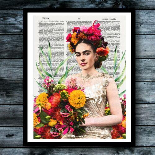 Frida Kahlo Dictionary Art Print Chic Vintage Poster Modern Cool Wall Decor