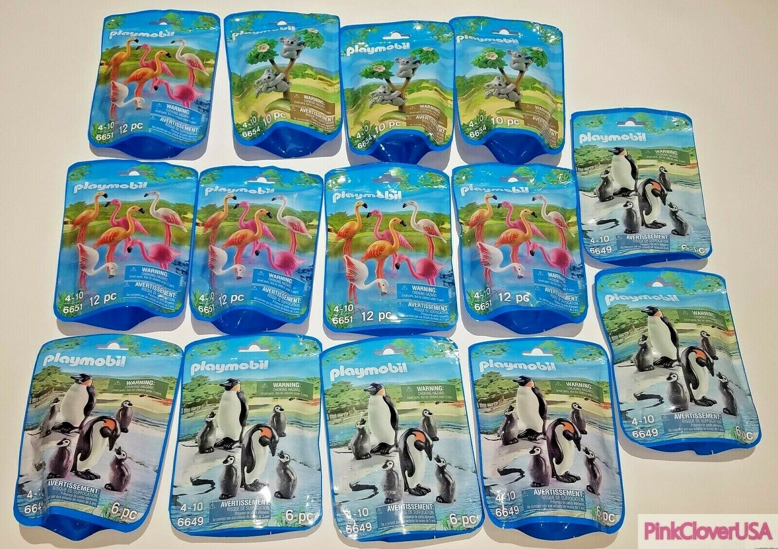 Bulk Lot of 14 NEW Playmobil Figurines - Koalas, Flamingos, Penguins, Ships Fast