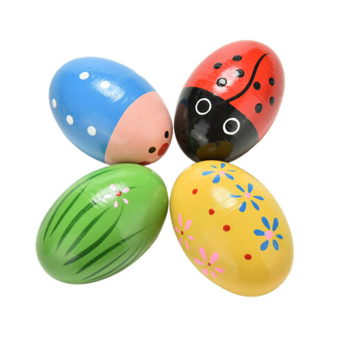 Wooden Sand Eggs Children Kids Baby Educational Instruments Musical Toy、Pop