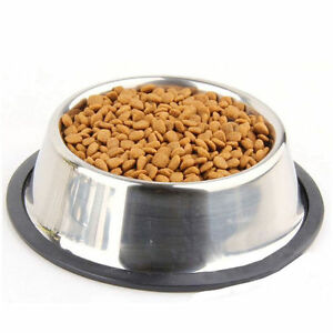stainless steel no tip non slip dog puppy pet food water bowl water