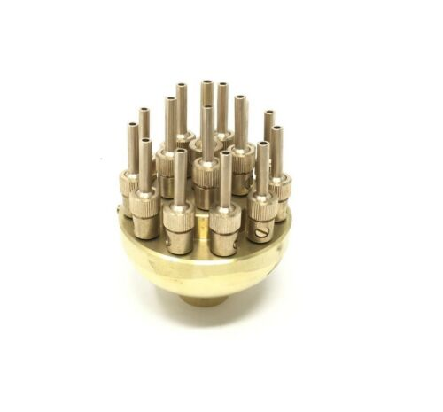 "New 1/"" Brass Water Fountain Nozzle 3 Tier Multi-Nozzle Adjustable w// Ground Lug"
