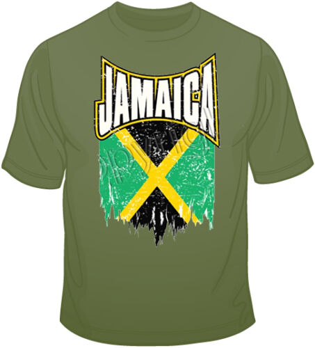 Size Jamaica distressed Flag T Shirt You Choose Style Color 10647