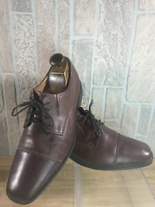 Clarks Collection Brown Blucher Cognac Cap Toe Lace-Up Derby Dress ... bb0670b78bf