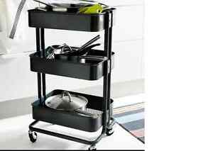 Image Is Loading Ikea Raskog Kitchen Trolley Black Island Storage