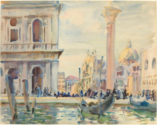 John Sargent The Piazzetta Giclee Canvas Print Paintings Poster Reproduction