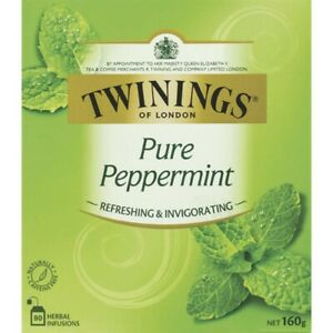 Twinings Pure Peppermint Tea Bags 80 pack 160g