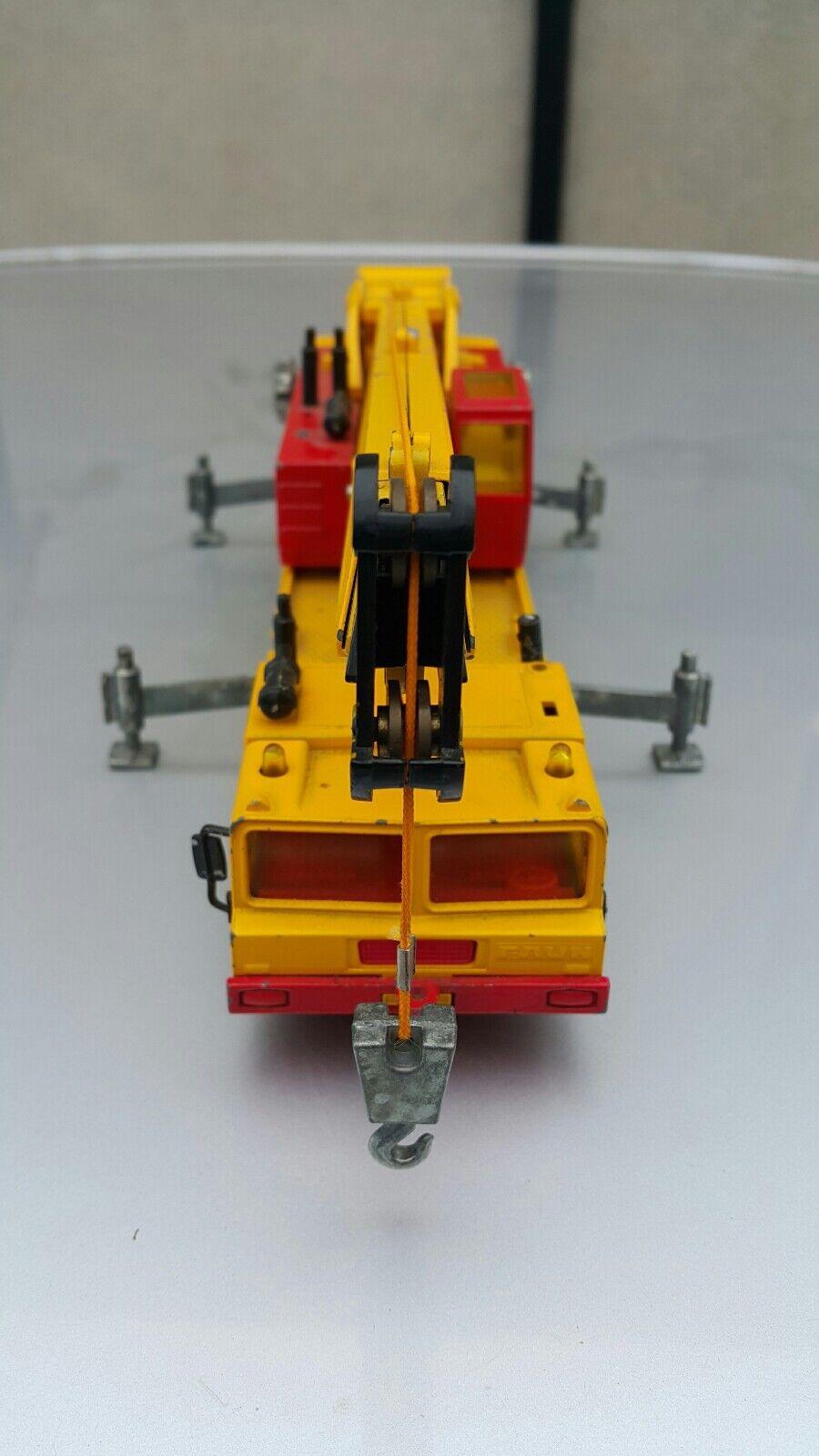 Vintage Grue Siku 4010 étain métal jouet  de construction véhicule WEST GERhommeY DDR RDA  livraison rapide