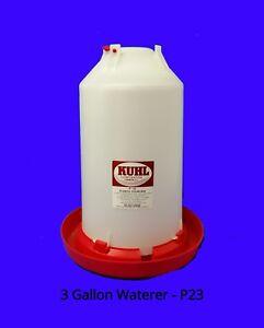 3 Gallon Chicken Waterer Chicken Fount 1-Three Gallon Waterer with Plug