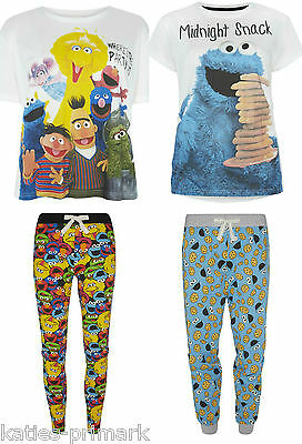 54d5d240be5f PRIMARK LADIES SESAME STREET COOKIE MONSTER PYJAMA SEPARATES   SET PYJAMAS  PJ S