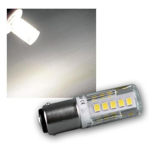 230V 2,5W BA15d LED Ersatzlampe für Nähmaschine Kühlschrank Lampe Birne Licht