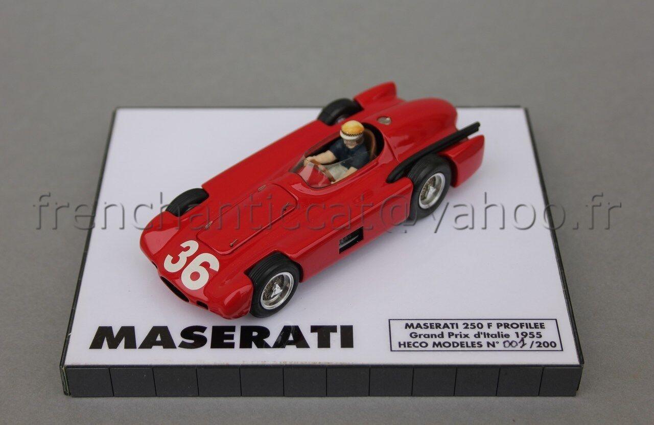 C184 miniature 1 43 maserati 250 f gp profiled 36  1955 heco collector no. 1
