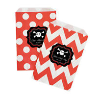 Pirate Party Personalized Birthday Party Favor Goodie Bags - Lot Of 36