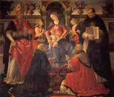 Ghirlandaio Domenico Madonna And Child Enthroned Between Angels And Saints A4 Pr