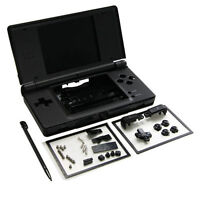 Nintendo Ds Lite Full Replacement Housing Shell Screen Lens Onyx Black Us