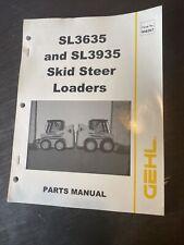 Gehl Sl3635 Sl3935 Tractor Skid Steer Loader Parts Manual Catalog Book Shop Oem