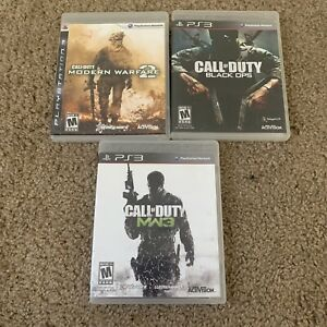 Playstation-3-PS3-Video-Game-Lot-Call-Of-Duty-Modern-Warefare-2-Black-Ops-MW3