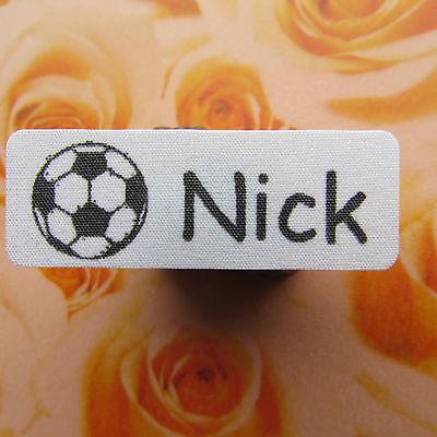 Selbstklebende Motiv Wäscheschilder Namensschilder Wäscheetiketten Fußball Label