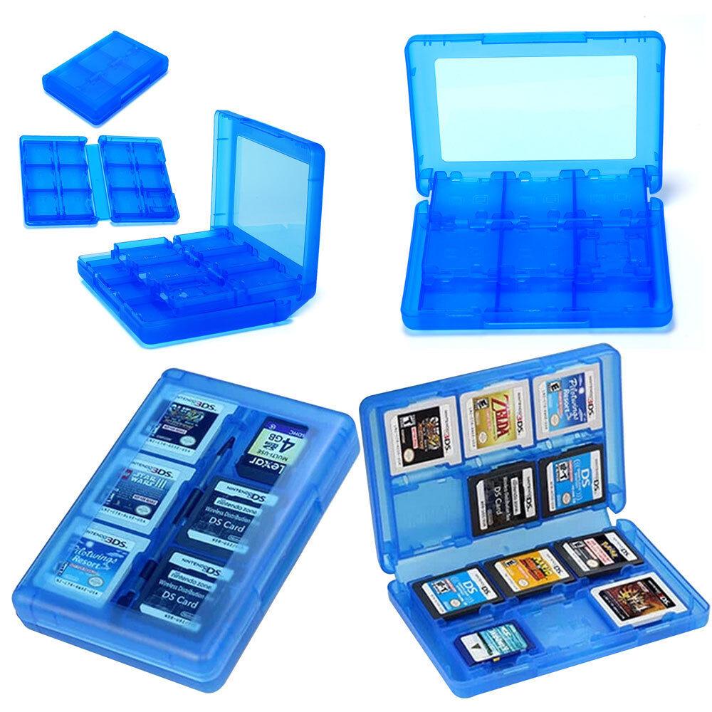 Neu Aufbewahrung Spielebox Schutzhülle Game Case für 3DS DSI 28in1
