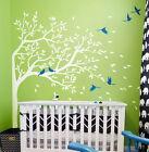 Baby Corner Birds Tree Wall Stickers Vinyl Decals Mural Kids Nursery Decor Arts